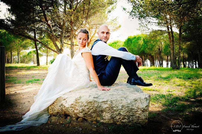 Couple sur un rocher