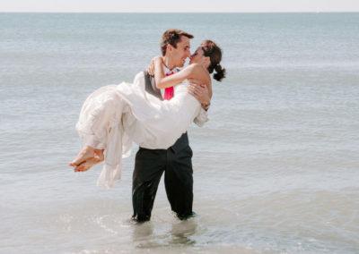 les mariés a la mer